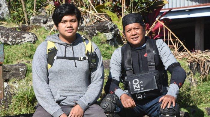 Foto-foto Andi Dulli dan Putranya Muh Fariq Naik Turun Gunung di Umpungeng Sapa Warga