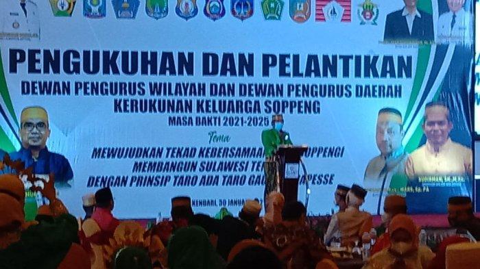 Hadiri Pelantikan KKS Sulawesi Tenggara, Andi Kaswadi Ingatkan Petuah Bugis di Depan Warga Soppeng