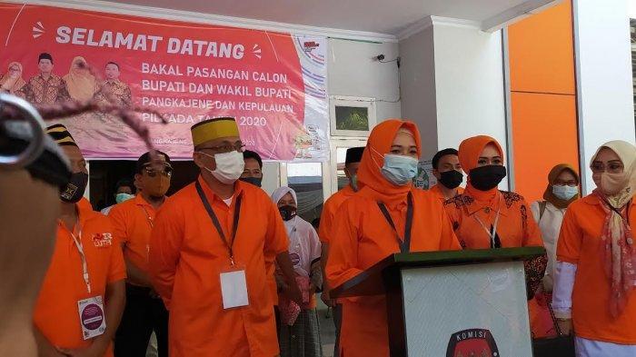Usai Mendaftar di KPU Pangkep, Andi Nirawati Janji Perjuangkan Kaum Perempuan