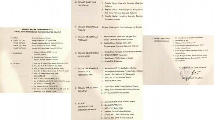 Ada 11 Tim Ahli Struktur Baru Satgas Penanganan Covid-19 Sulsel, Enam Orang Bergelar Professor