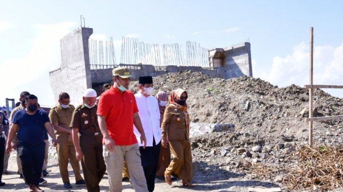Andi Sudirman Sulaiman Tinjau Progres Pembangunan Jembatan Malake Sidrap