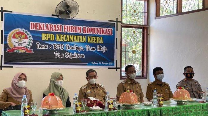 Hadiri Deklarasi Forum BPD Keera, Bupati Wajo Amran Mahmud Puji Andi Nurhidayati