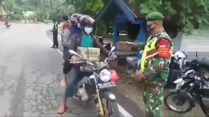 Video Anggota TNI Larang Mudik di Perbatasan Bone Viral di Medsos, Camat Kajuara: dari Kodim Sinjai