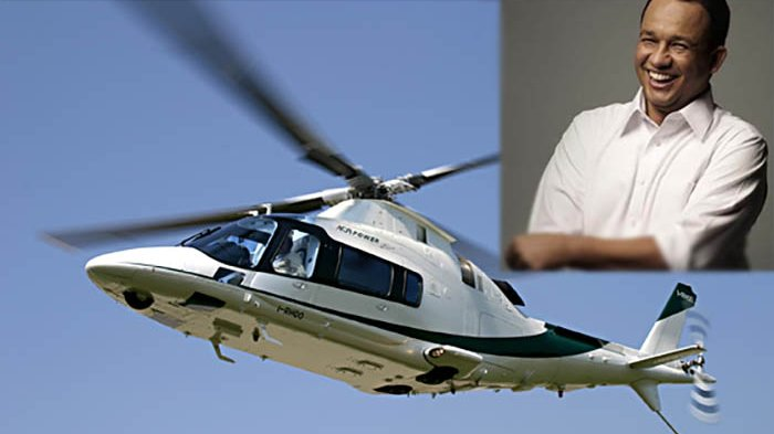 Alasan Anies Baswedan Pakai Helikopter ke Balai Kota Jakarta, Bukan Pakai Mobil
