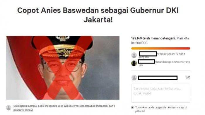 Anies Baswedan Masih Pusing Jakarta Banjir, Petisi Muncul Lagi Minta Sahabat Sandiaga Dicopot Jokowi
