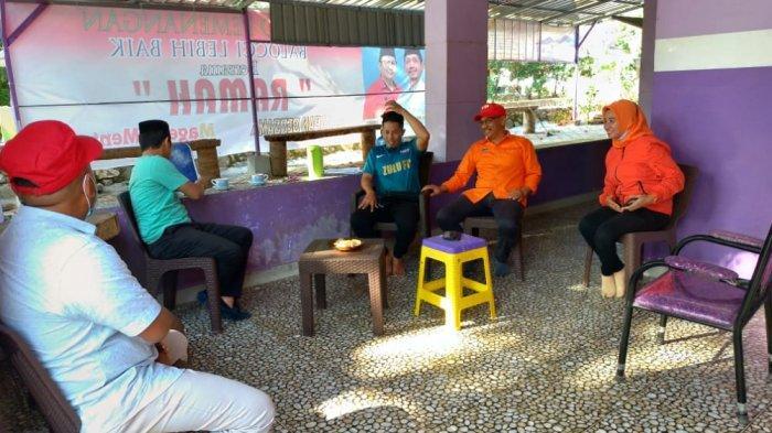 Datangi Posko Rahman Assegaf, Anir-Lutfi Ajak Ciptakan Demokrasi Sehat di Pangkep