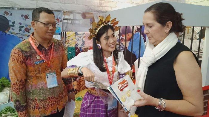 Anyaman Lidi Buatan Warga Binaan Lapas Polewali dan Rutan Majene Tampil di Trade Expo Indonesia 2019