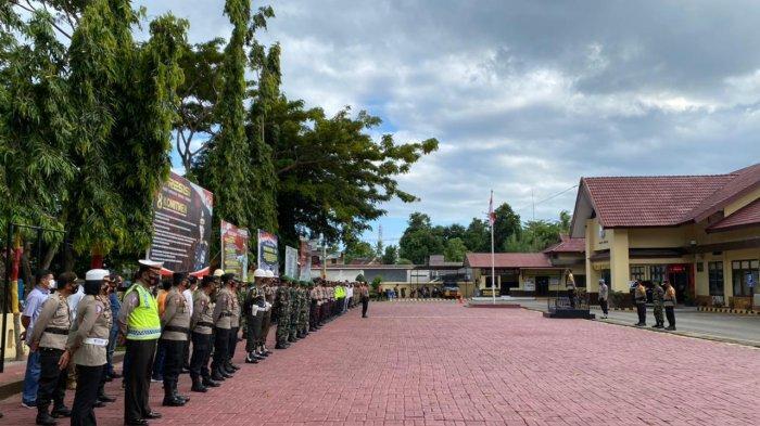 Kapolres Bantaeng Minta Petugas Pengamanan Malam Takbiran Berdoa