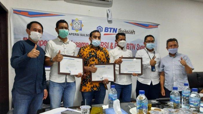 Terbaik, Anggota Apersi Sulsel Terima Penghargaan dari Bank BTN Syariah