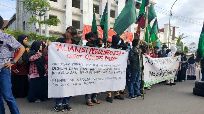1 Orator Aliansi Peduli IndonesiaI Ditangkap Saat Demo di Mapolres Palopo