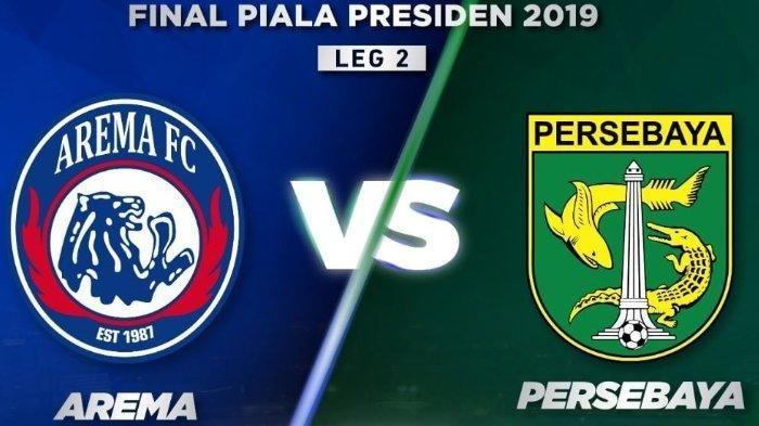 Skor 1-0, Live Streaming Indosiar Arema FC vs Persebaya Surabaya Final Piala Presiden, Jokowi Absen