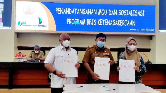 BPJS Ketenagakerjaan MoU dengan Korpri Sulsel dan Bank Sulselbar