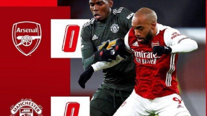 HASIL LIGA INGGRIS Arsenal vs Manchester United: Imbang Tanpa Gol, Rekor Tandang MU Masih Terjaga