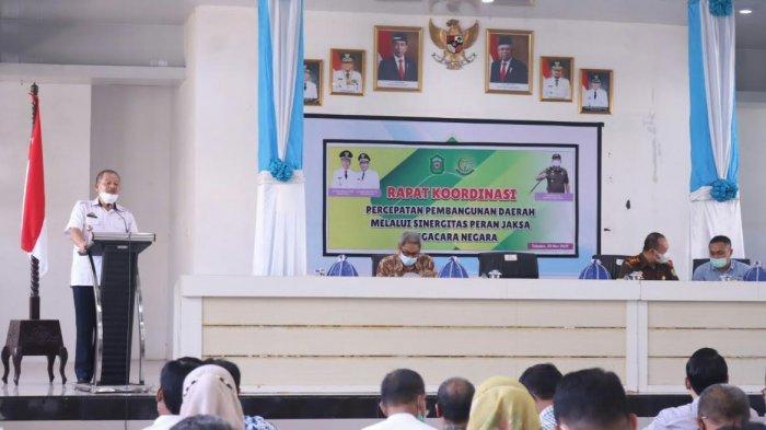 Rapat Koordinasi Percepatan Pembangunan Daerah, Sekda Takalar Ingatkan Pemulihan Ekonomi Nasional