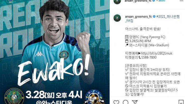 Kata Ewako Kini Mendunia, Berkat Asnawi Mangkualam Eks PSM Makassar Tampil di Liga Korsel