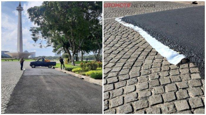 Aspal Sirkuit Formula E di Monas Jakarta Dibongkar, Tak Berbekas dan Tak Bikin Rusak Cobblestone