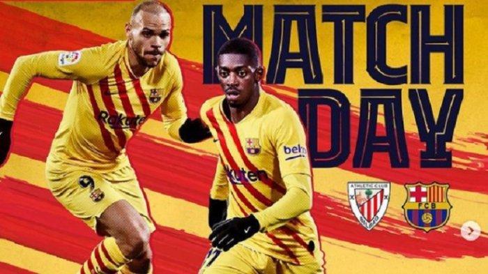 NONTON TV ONLINE Athletic Bilbao vs Barcelona di Liga Spanyol, Link Live Streaming Gratis di HP