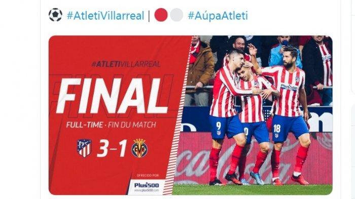 Hasil Lengkap Liga Spanyol, Atletico Aman di Posisi 3 Besar, RCD Espanyol Kalah Lagi