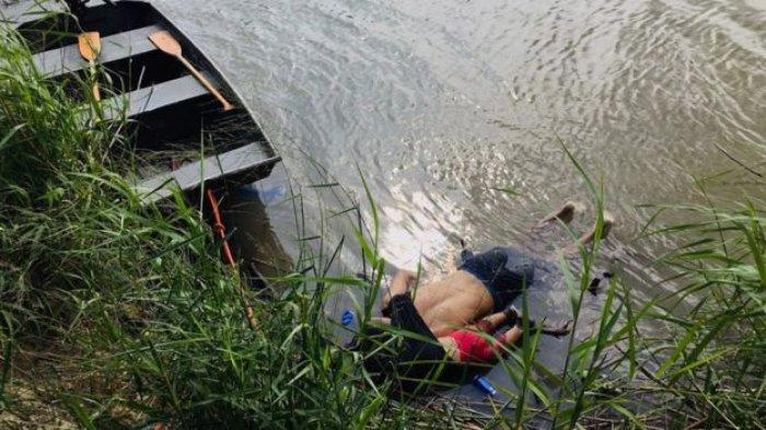 Foto Jenazah Ayah dan Anak Terapung dalam Satu Bungkusan Picu Protes, Cerita di Baliknya Memiriskan