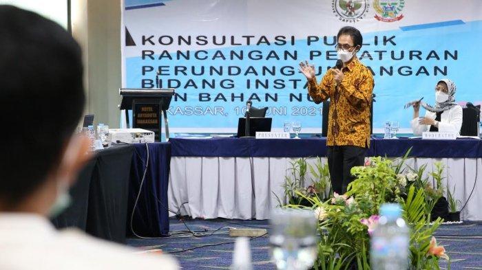 FOTO: BAPETEN Konsultasi Publik Penyusunan RUU Ketenaganukliran di Makassar