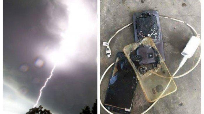 Naas, Farhan Tersambar Petir Saat Main Ponsel sambil Di-charge, ini Bahayanya Isi Daya Saat Hujan