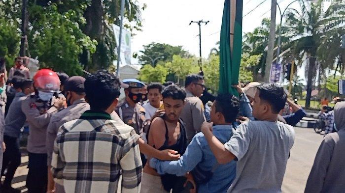 Mahasiswa Versus Polisi di Mamuju Sulbar, Aktivis HMI Manakarra: Polisi Mengacaukan Aksi Kami