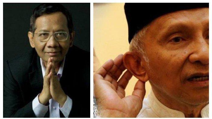 BALASAN Mahfud MD ke Amien Rais yang Akan Buat Perhitungan ke Menteri Presiden Jokowi