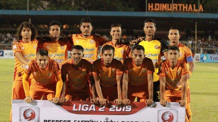 Skuad Persiraja Banda Aceh di Liga 2 2019. Persiraja promosi ke Liga 1 2020 bersama Persik Kediri dan Persita Tangerang.