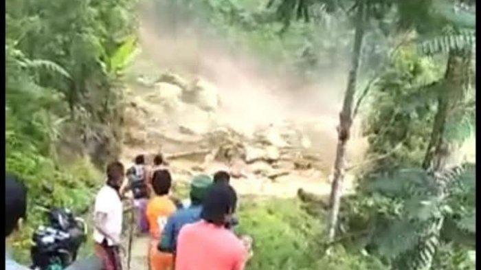 Beredar Video Longsor di Desa Tibussan Luwu, Begini Penjelasan BPBD