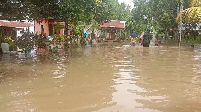 Puluhan Rumah Terendam Banjir, Warga Marobo Palopo Mengungsi ke Tempat Tinggi