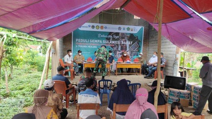 Bank Indonesia Sulbar Salurkan Tikar Hingga Obat-obatan ke Posko Pengungsi