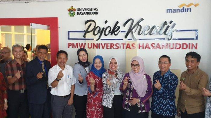 Bank Mandiri dan Universitas Hasanuddin Resmikan Pojok Kreatif