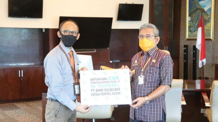 Bank Sulselbar Salurkan Dana CSR untuk Penanganan Covid-19 di Sulbar