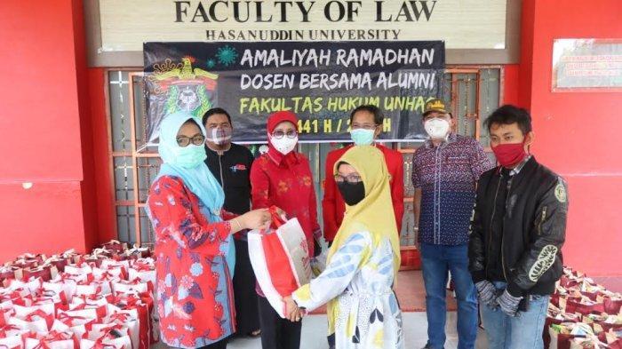 Jelang Lebaran, Pegawai Hingga Penjaga Kantin Fakultas Hukum Unhas Terima Bantuan Sembako
