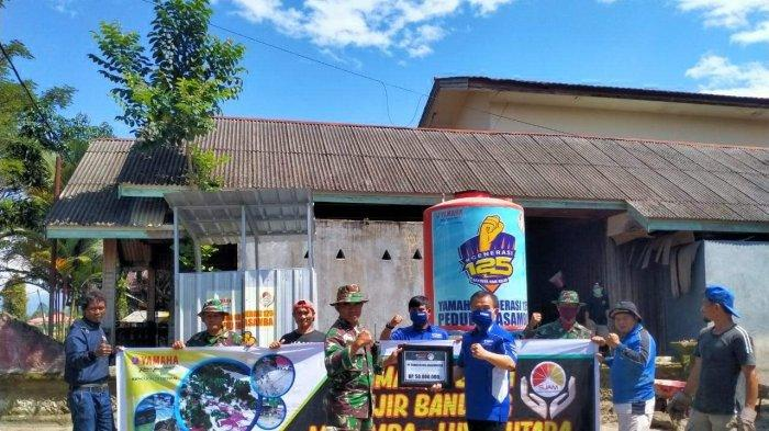 Bantu Ringankan Beban Warga Terdampak Banjir, Tim Yamaha Bawa Bantuan Pompa dan Tandon Air ke Lutra