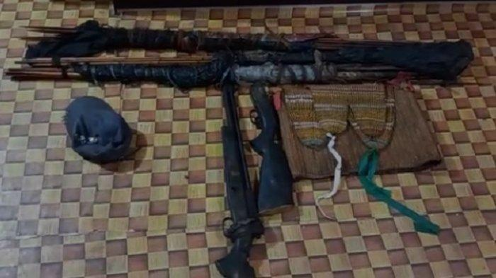 Honai Milik Anggota KKB Papua, Satgas Nemangkawi Temukan Senjata dan Anak Panah