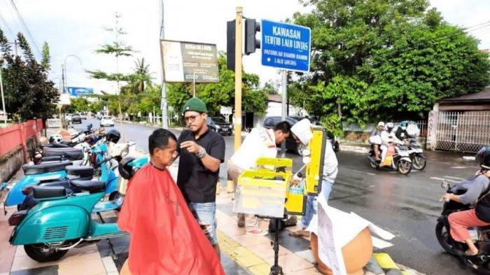 Barbershop di Palopo Aksi Kemanusiaan, Bayar Seikhlasnya untuk Korban Gempa Majene