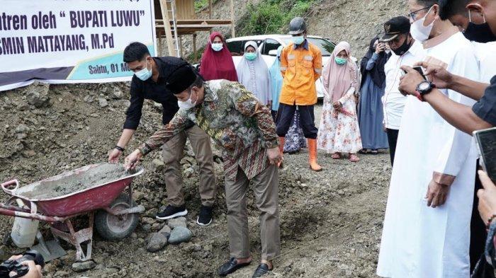 Hadiri Peletakan Batu Pertama Ponpes Sangu Al-Furqan, Begini Harapan Bupati Luwu