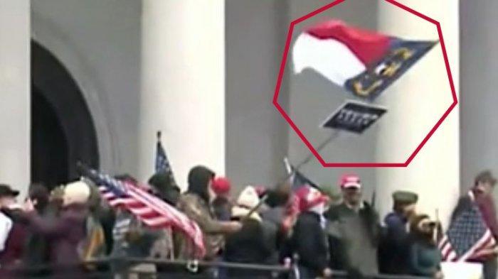 Ada Bendera Merah Putih, Indonesia Terlibat di Demo Pro-Trump di Capitol Hill? Berikut Penjelasannya