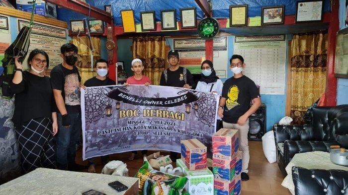 Benelli Owner Celebes Berbagi Paket Sembako ke Panti Asuhan