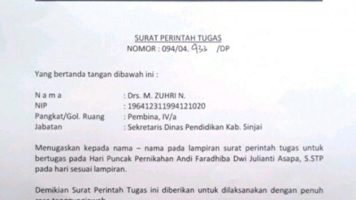Putri Kadis Pendidikan Sinjai Menikah, 42 Guru Diberi Surat Perintah Tugas sebagai Panitia