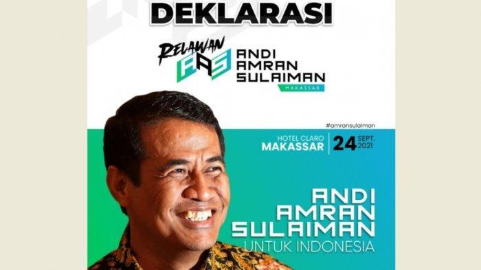 Pemilu 2024, Beredar Narasi Deklarasi Relawan Andi Amran Sulaiman di Makassar