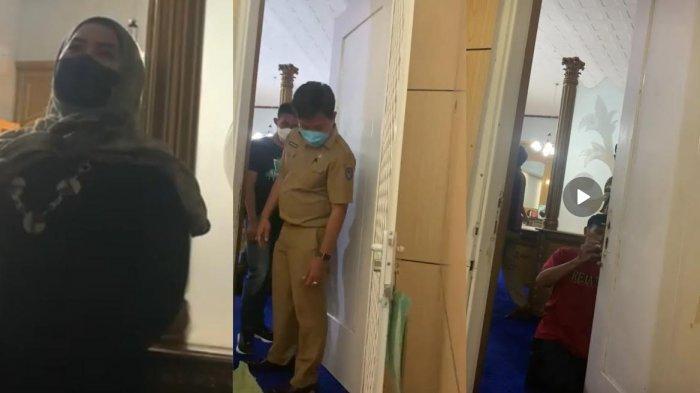 'Janganko Seenaknya' Satpol PP Kembali Beraksi, Kawal Pembobolan Paksa Kunci Pintu Kamar NA di Rujab