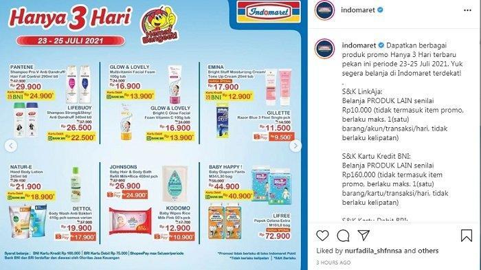 Promo Hanya 3 Hari Indomaret, Kebutuhan Dapur Sambal dan Keju Turun Harga, Pantene Sisa Rp29.900