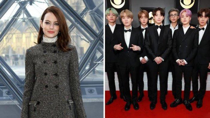 TRIBUNWIKI: Ikuti Promosikan Penampilan BTS di SNL, Berikut Profil Aktris Emma Stone