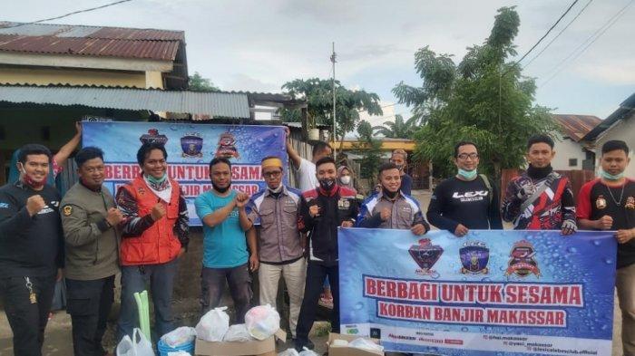 Kolaborasi Bikers Peduli Korban Banjir Manggala dan Biringkanaya