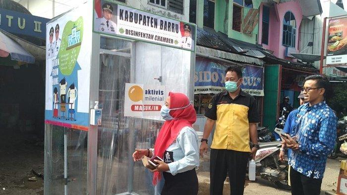 Cegah Wabah Corona, Pemkab Barru Sebar Bilik Sanitizer di Pasar dan Rumah Sakit