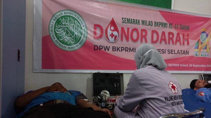 Gandeng PMI Kota Makassar, DPW BKPRMI Sulsel Gelar Donor Darah
