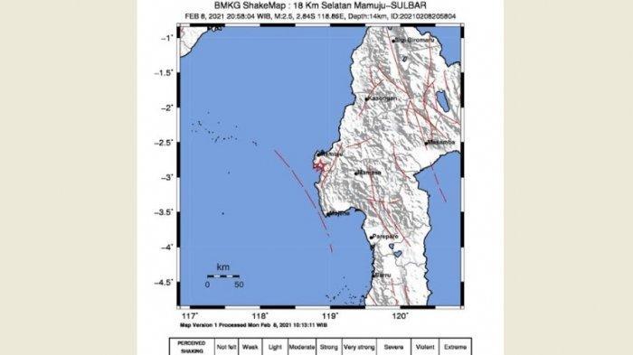 Gempa 2,5 SR Kembali Guncang Sulbar, BMKG Minta Hindari Bangunan Retak