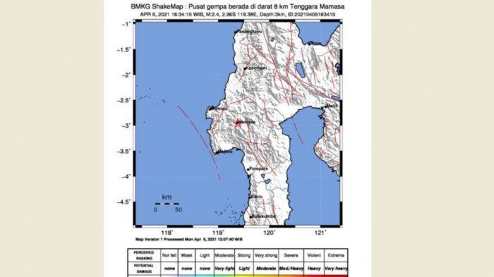 Ini Penyebab Gempa Mamasa, Ada Imbauan BMKG